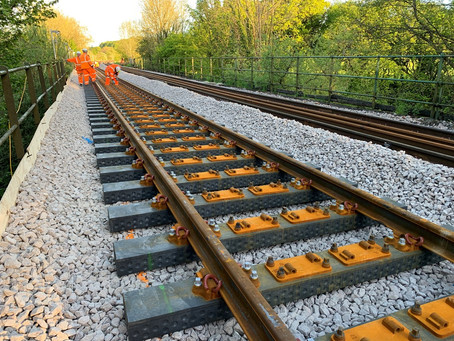 First recycled plastic railway sleepers laid on Network Rail tracks