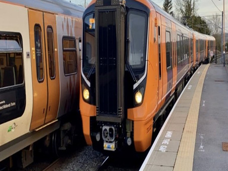 New 'Aventra' Train Pays a Visit to Redditch as it Builds Up the Miles