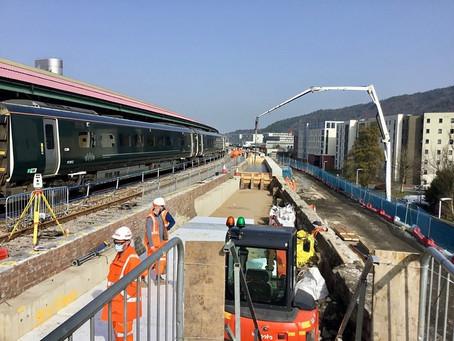 Longer Platform 4 at Swansea