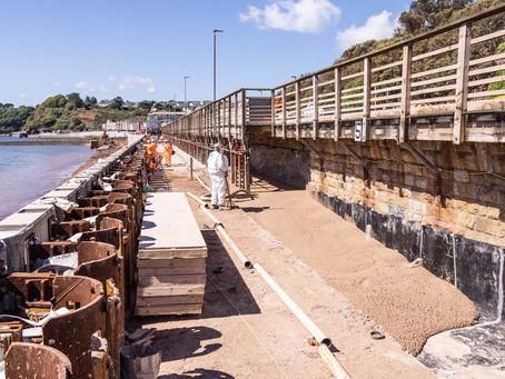 Low-Carbon Concrete Turns Dawlish Sea Wall a Greener Shade of Grey