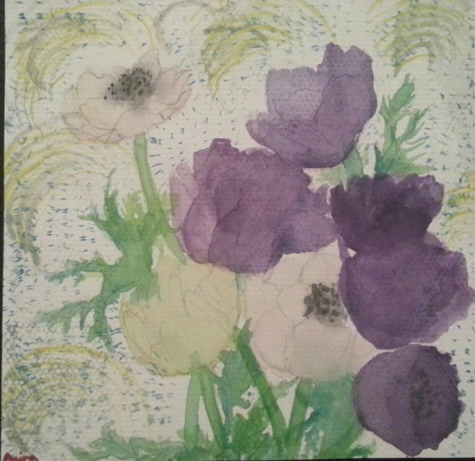 """Purple flowers for a rainy day"""