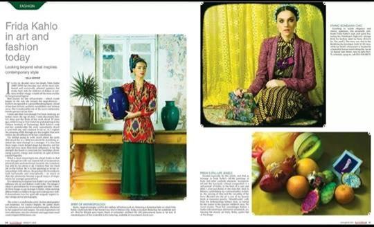 כתבה על הפקת האופנה לחברת La Tante