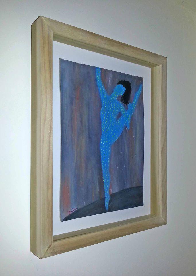רקדנית ממוסגרת- תמונה לעיצוב אוירה