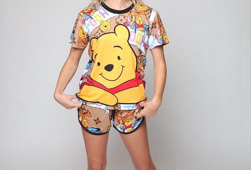 LV Pooh 3D Fit Short PJ Set
