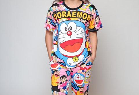 Doraemon 3D Fit Long PJ Set
