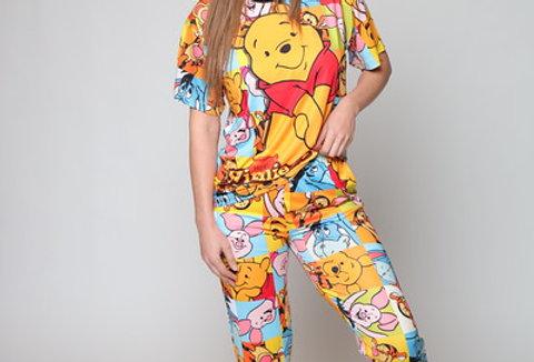 Pooh 3D Long PJ Set