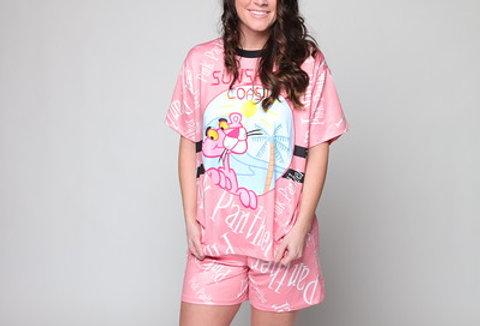 Pink Panther 3D Fit Short PJ Set