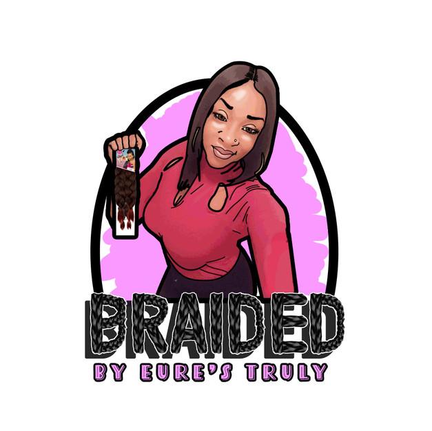 BraidedLogo_FancyPinkFontWithBackground.