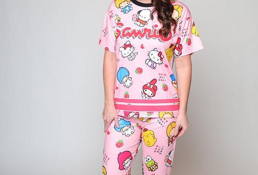 Hello Kitty 3D Fit Long PJ Set