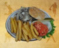Mushroom Bacon Burger