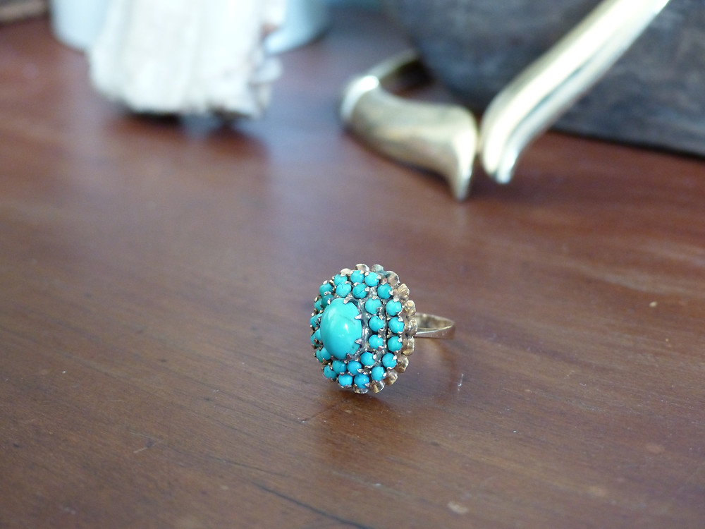 Gold and Turquoise Ring Amanda Luttrell Garrigus.JPG