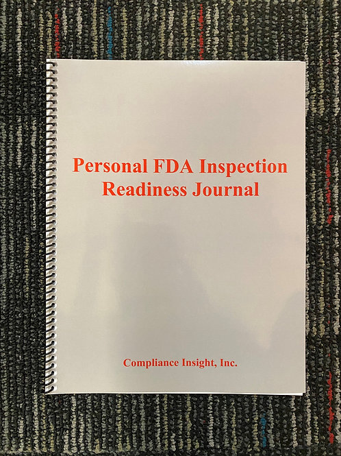 Personal FDA Inspection Readiness Journal