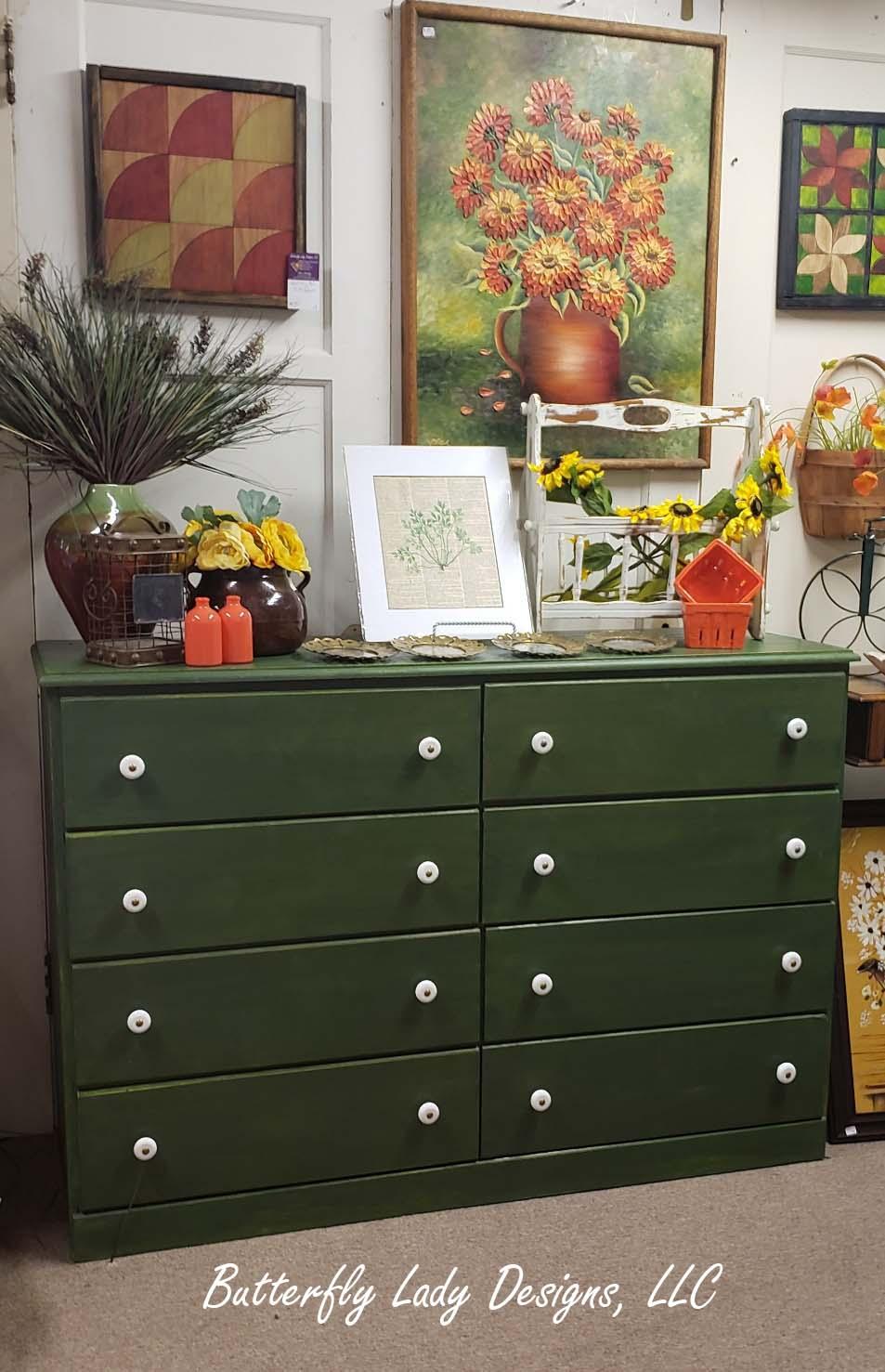 Long Green Dresser