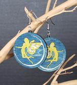 Faires silohuette on crescent moon gold