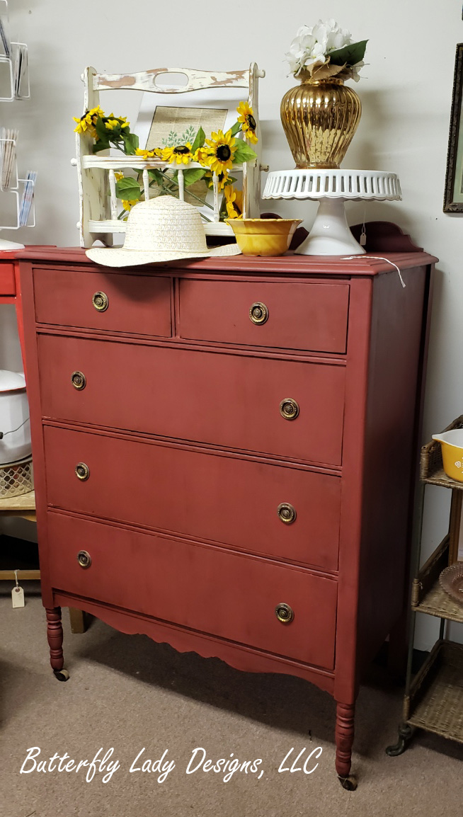 Rusty Red Dresser
