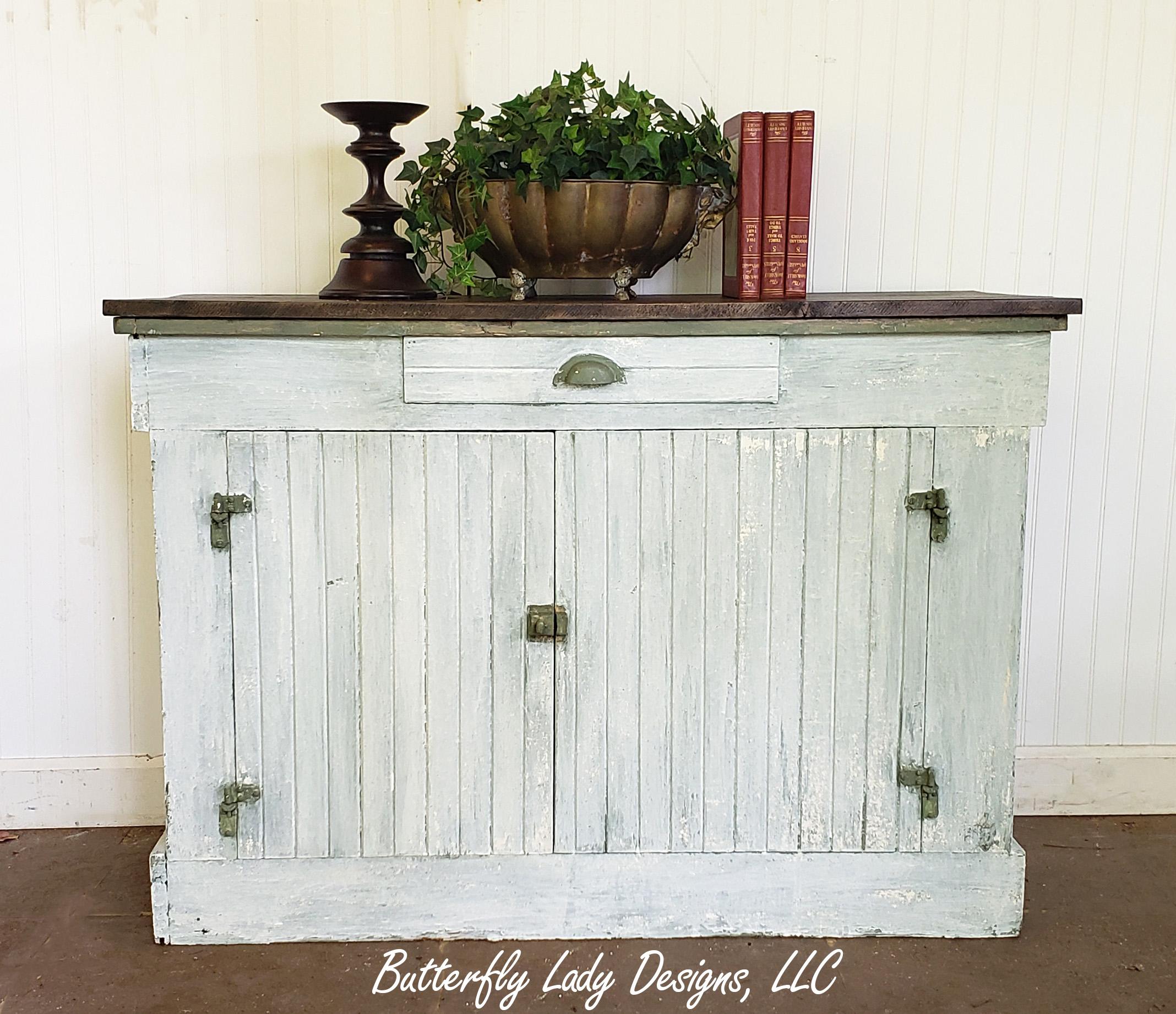 Ironstone & Boxwood Cabinet