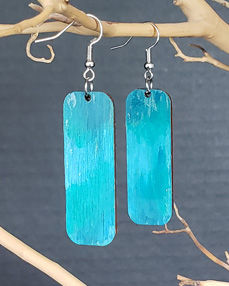 Earring Home Page Photo - Blue Abstract.