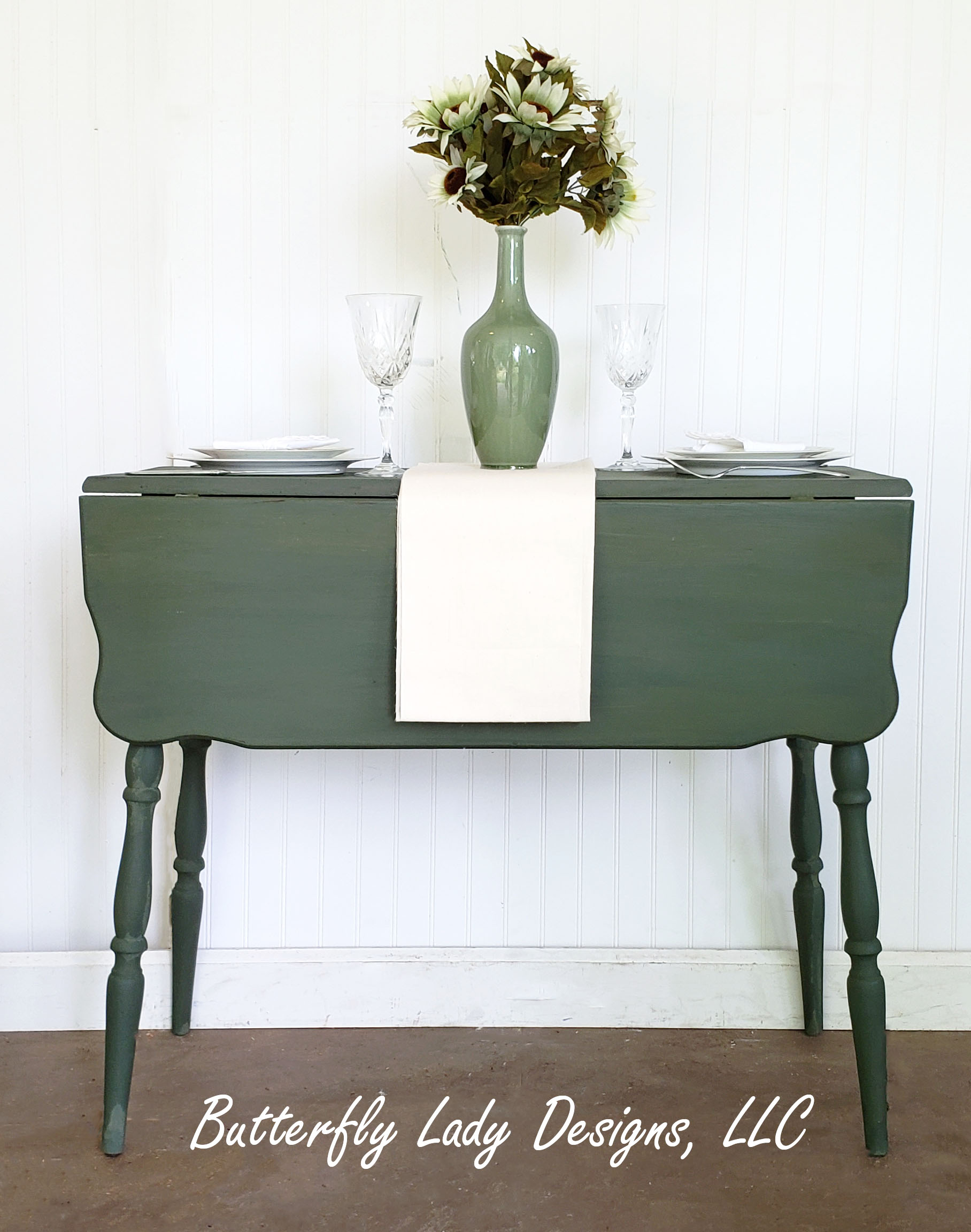 Dark Boxwood Drop Leaf Table