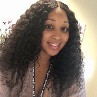 My Beautiful  cousin is wearing a Custom Wig eith SHG's Brazilian Curly Hair  and Closure..jpg