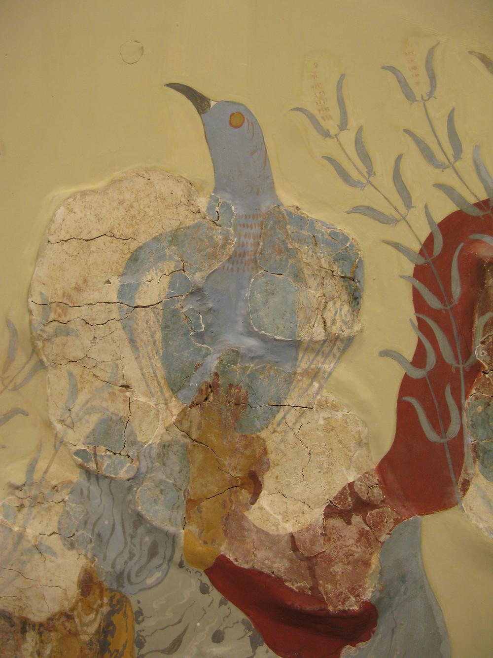 L'oiseau bleu de Knossos, vers 1500 av. J.-C