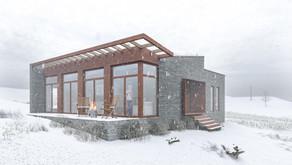 Ny hytte i havgapet på Hitra