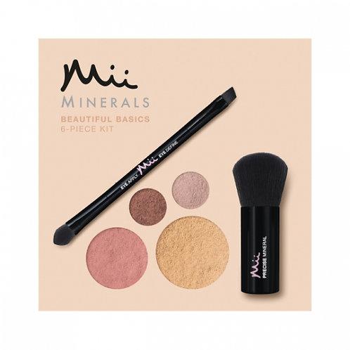 Mii Mineral Beautiful Basics Foundation, Eyeshadow, Blush & Brush Set - Nude 04