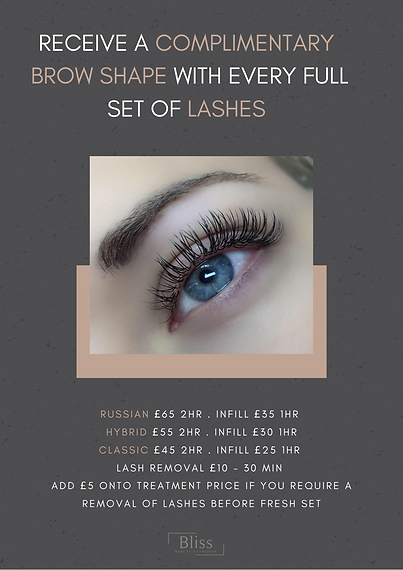 BLISS BEAUTY KEYWORTH LASH EXTENSIONS