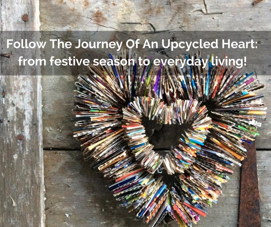 Emubob upcycled heart