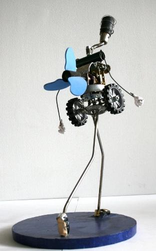 Michelle Reader-Mechanical woman sculpture