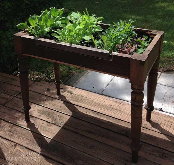 Upcycled lettuce table