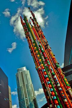 George Sabra-Plastic Caps Sculpture