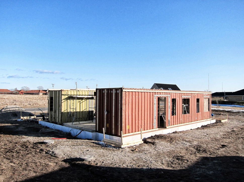 Shipping container sustainable upcycled house