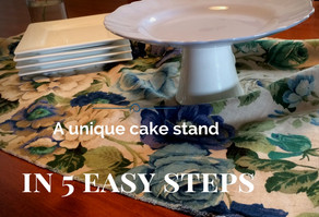 A Unique Cake Stand In 5 Easy Steps