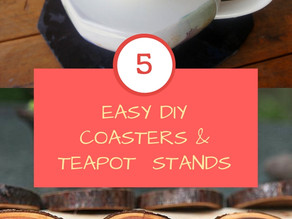 5 Easy DIY Coasters & Teapot Stands