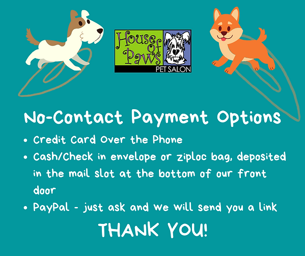 No-Contact Payment Options Credit Card O