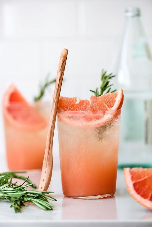 Honey Rosemary Grapefruit Sodas - Fork K