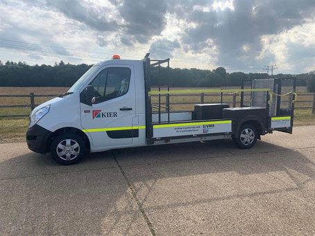 UK's first full electric traffic management truck goes to Kier for trials