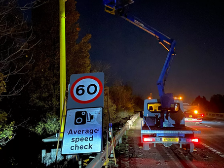 Highway Care install Temporary Automated Speed Camera at Roadworks (TASCAR) barrier