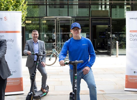 Staffordshire and Amey launch e-scooter trials with Ginger and Zwings