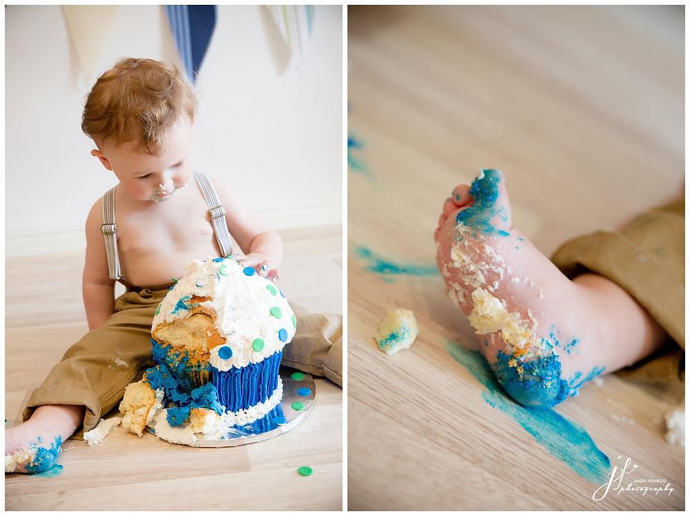 Aviator cake smash by Jaqui Franco Photography Cape Town