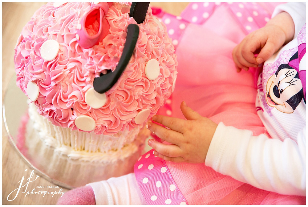 Minnie Mouse Cake Smash by Jaqui Franco Photography