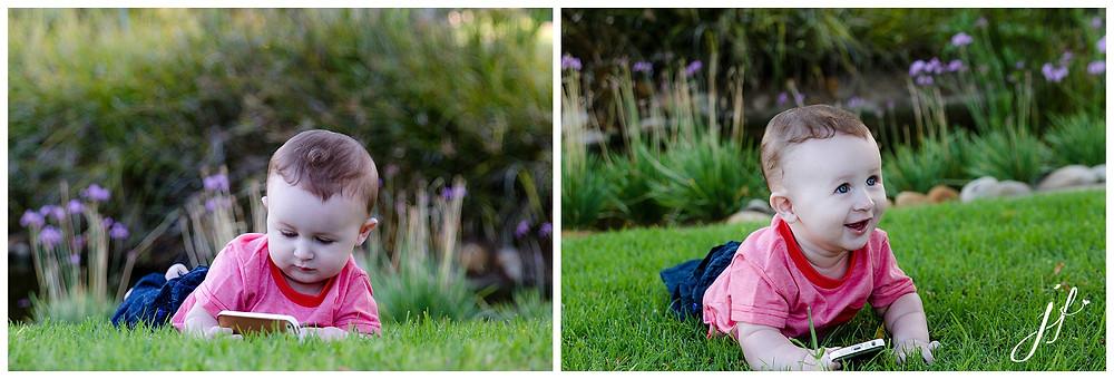 Century City based photographer Jaqui Franco photographing baby Jadan