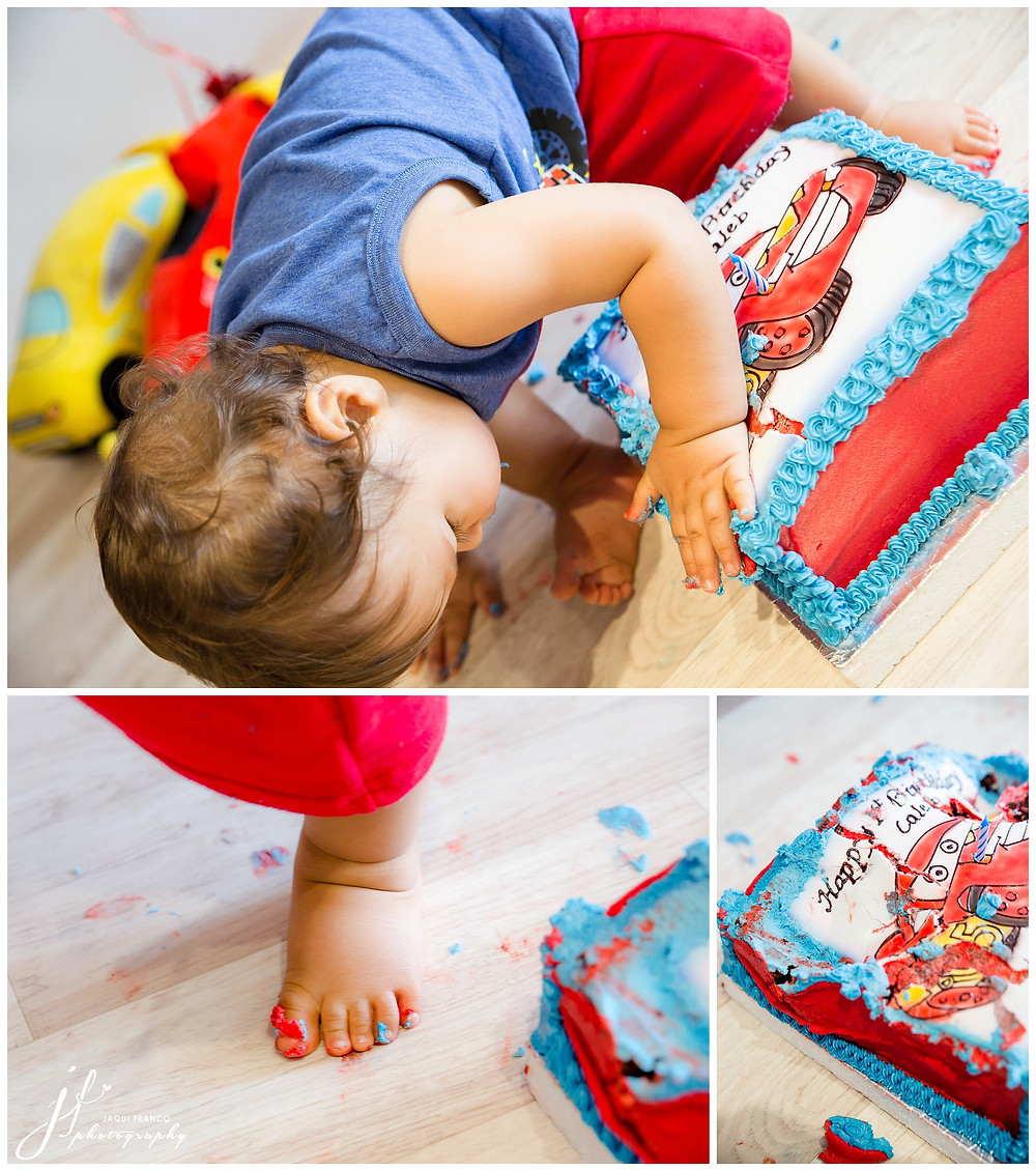 Cake Smash session by Jaqui Franco Photrography
