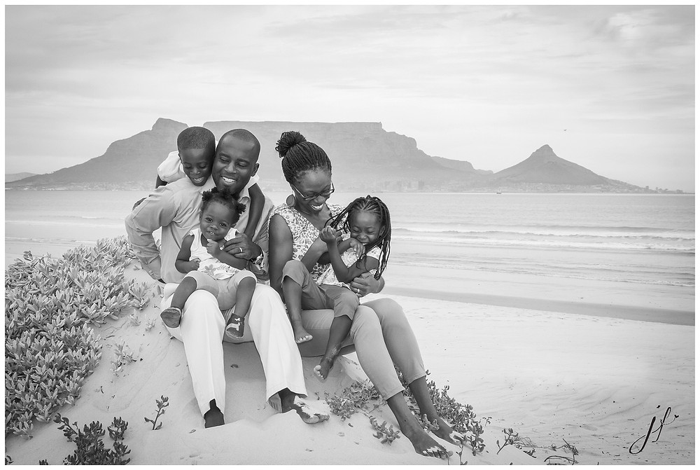 Family shoot on Dolphin Beach, Cape Town
