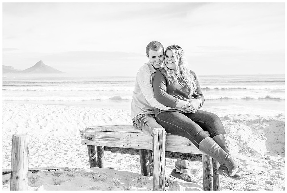 Engagement shoot at Dolphin Beach Cape Town by Jaqui Franco Photography