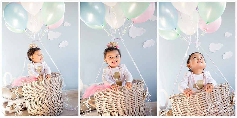 Hot air balloon cake smash by Jaqui Franco Photography Cape Town