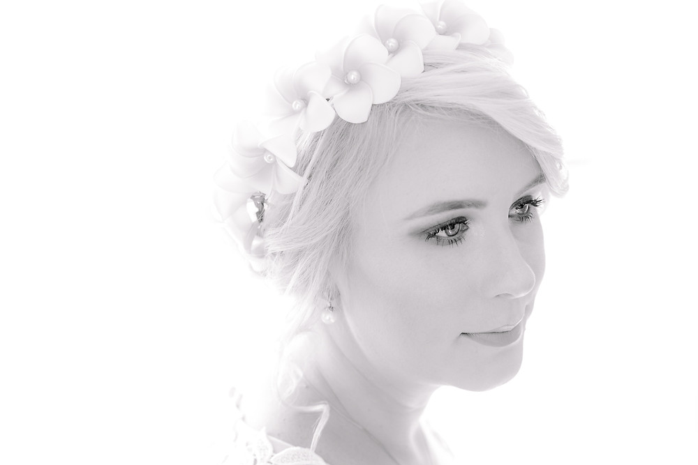 Black & White bridal portraits