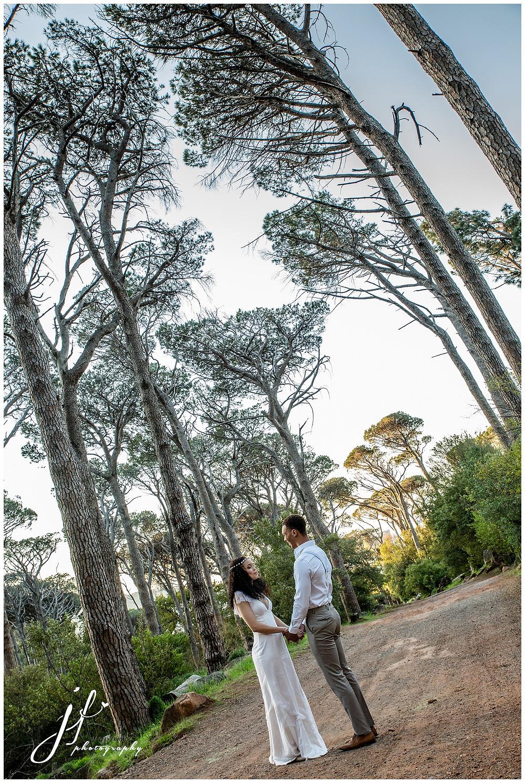 Bridal Couple Deer Park Forest Wedding