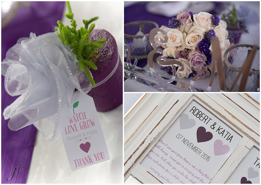 Beautiful party favours at a wedding in Sea Point photographed by Jaqui Franco from Cape Town