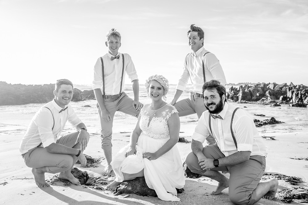 Bride with her groomsmen